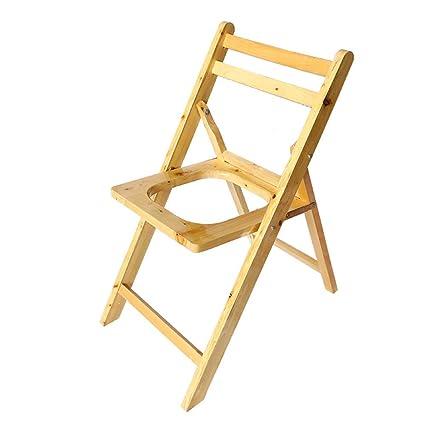 Marvelous Amazon Com Imsq Solid Wood Folding Chair Chair Elderly Machost Co Dining Chair Design Ideas Machostcouk