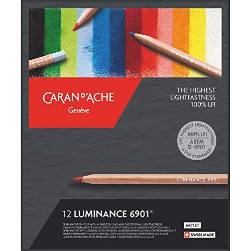 Caran d  Ache d-ache 6901.71212pièce Pencil Coloured Pencils (12Piece (S) (S), Hexagonal)