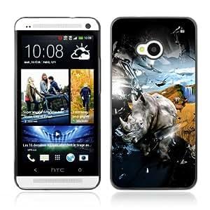 Designer Depo Hard Protection Case for HTC One M7 / Cool Rhino & Safari Explosion