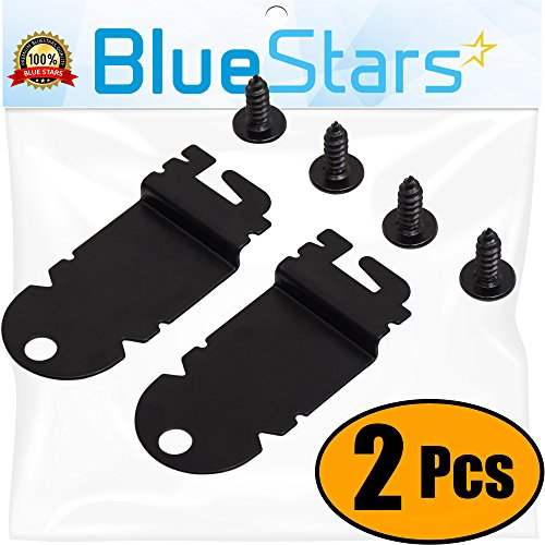 (Ultra Durable 8212560 Dishwasher Side Mounting Bracket Replacement Kit by Blue Stars – Exact Fit For Whirlpool & Kenmore Dishwashers – Replaces 1201084 AP3953705 - PACK OF 2)