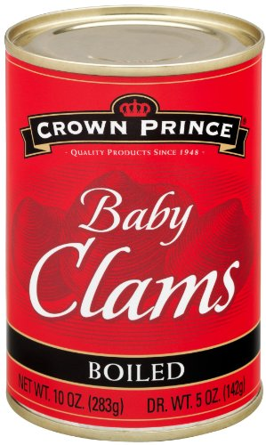 Crown Prince Boiled Baby Clams, 10-Ounce Cans (Pack of 12)