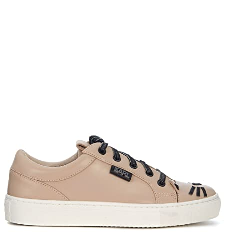 Karl Lagerfeld Leather sneaker with cat whiskers and ears women's Shoes (Trainers) in Clearance Online Fake Eastbay Sale Online Online Shop s2kYf
