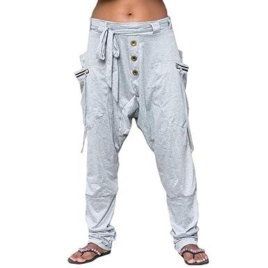 Mujer Pantalones de Harén Bohemia Hippie Pantalones Casuales ...