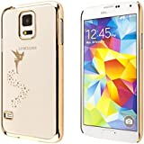 ECENCE SAMSUNG GALAXY S4 MINI I9190 I9195 I9192 DUOS CASE COVER SCHUTZ-HUELLE SCHALE FEE GOLD 43030504