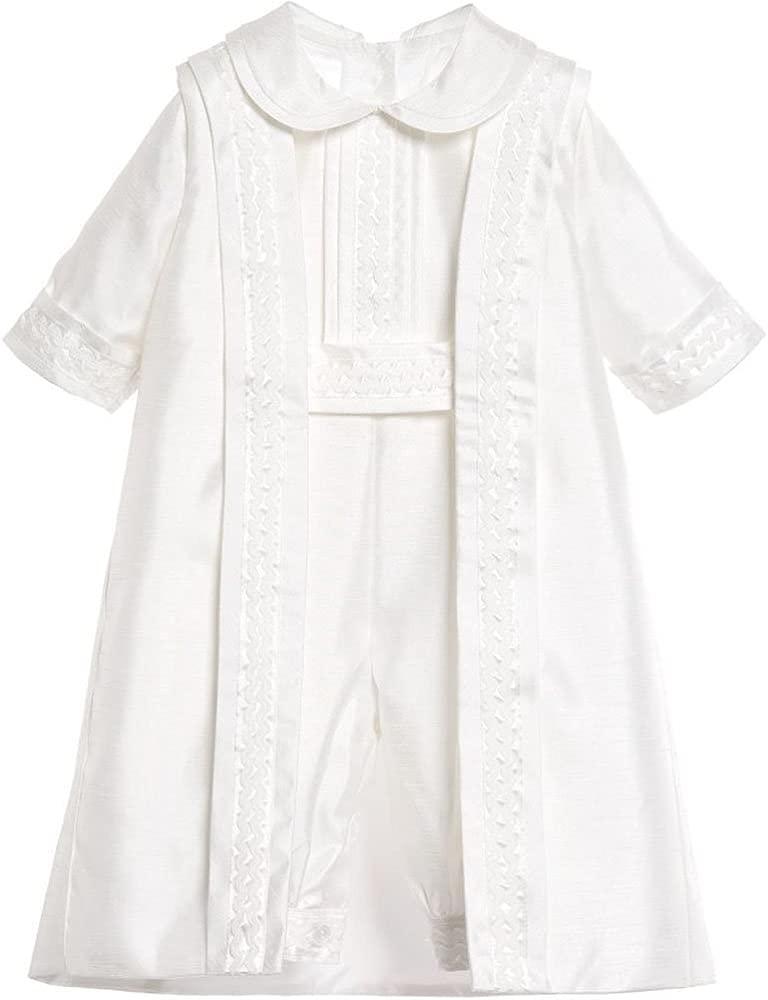 Amazon.com: newdeve 3 piezas blanco/marfil Baby Boy bautizo ...
