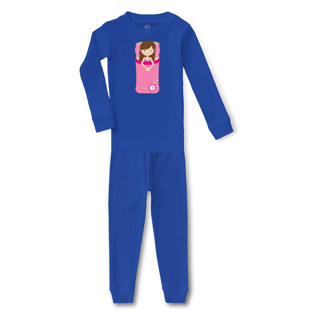 Girl Sleeping Bag Cotton Crewneck Boys-Girls Sleepwear Pajama 2 Pcs Set