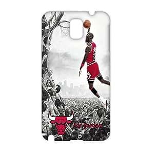 Fortune 3D Case Cover NBA Bulls Jordan Phone Case for Samsung Galaxy Note3