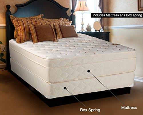 Firm Euro Pillow Top (Continental Sleep Mattress,13-Inch Euro Top Pillow Top, Foam Encased,Orthopedic, Assembled, Firm Queen Mattress and Box Spring, Luxury)