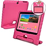 galaxy tab 3 bumper case for kids - Samsung Galaxy Tab 4 10.1 case for kids, fits Galaxy Tab 3 10.1 [SHOCK PROOF KIDS TAB 10.1 CASE] COOPER DYNAMO Kidproof Child Tab 4 10.1 inch Cover for Girls | Light, Kid Friendly Handle Stand (Pink)