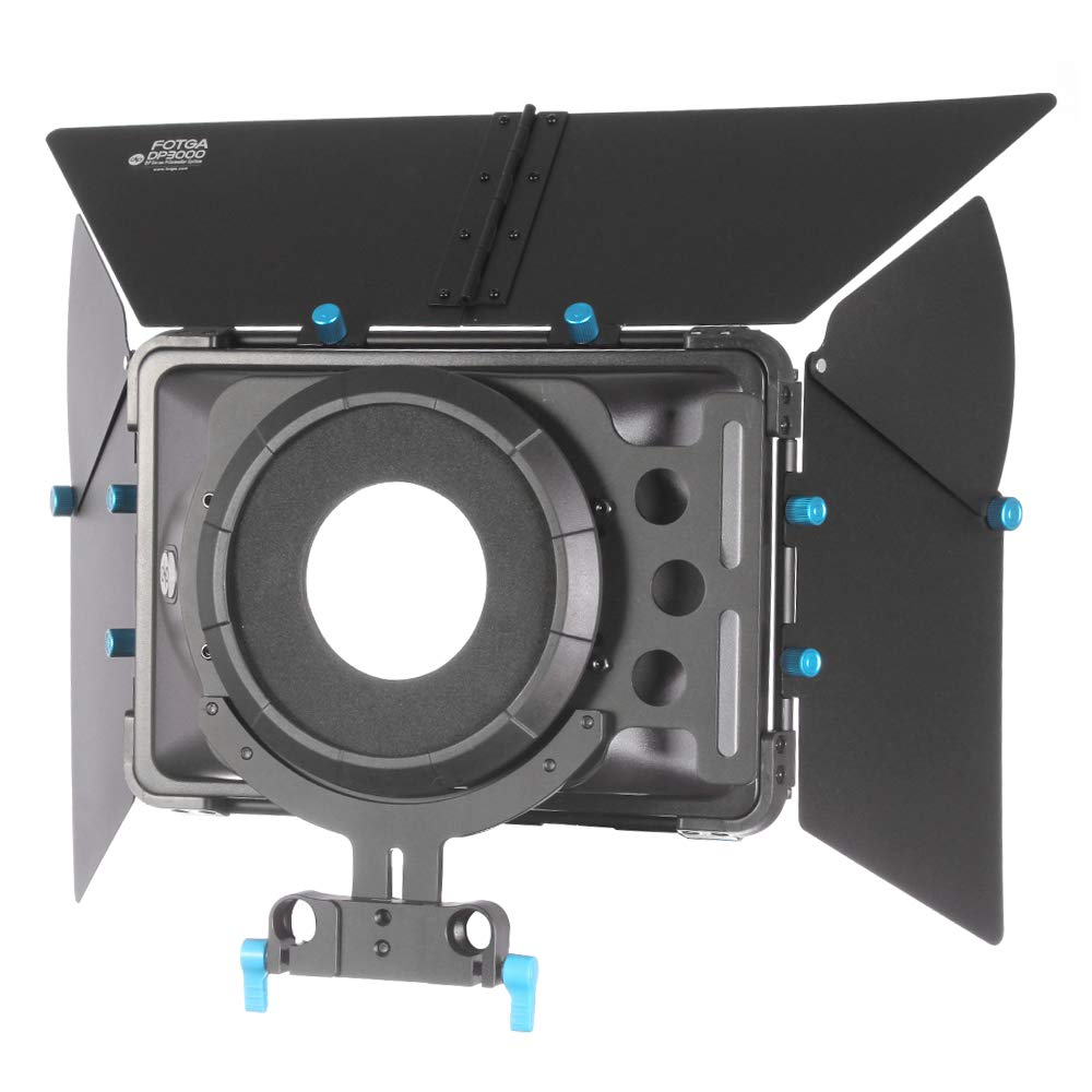 FOTGA DP3000 M1 Pro Matte Box Sunshade + Donuts for 15mm Rod Rig Follow Focus DSLR Canon Mark 5D II III 7D Cameras etc. by FOTGA