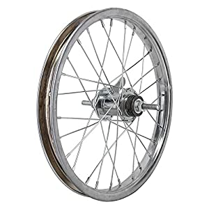Wheel Master 16 x 1.75 Coaster Brake Rear Wheel, 28H, Steel, Bolt On, Silver