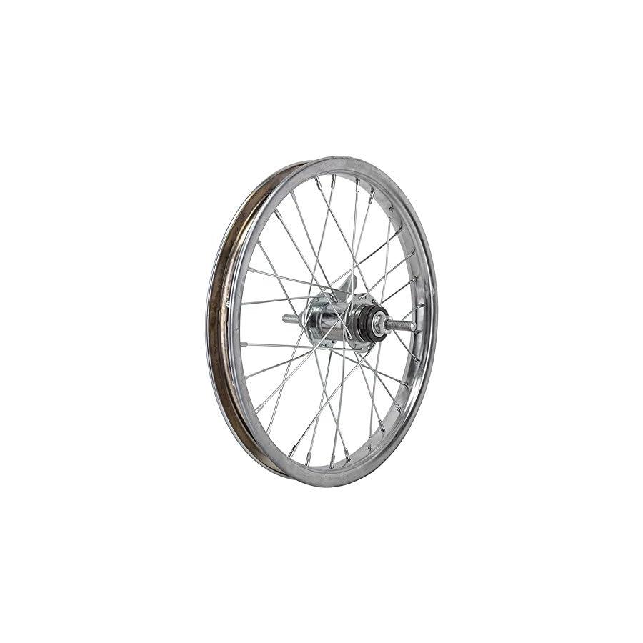 Wheel Master 16 x 1.75 Coaster Brake Rear Wheel, 28H, Steel, Bolt On, Silver