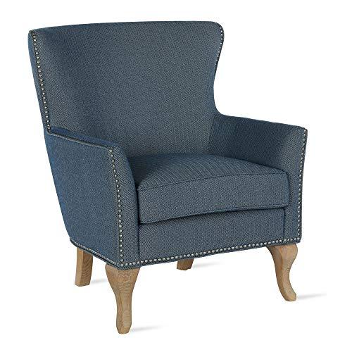 Dorel Living DA7903S-BL Reva, Blue Accent Chair