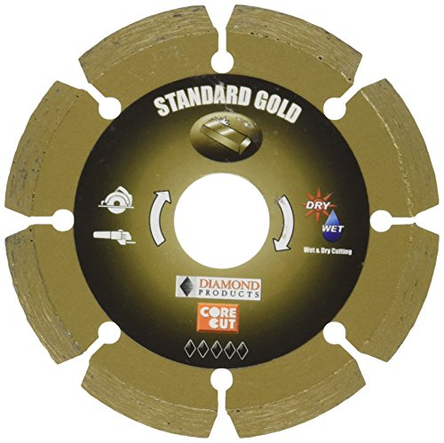 UPC 603461113441, Diamond Products Core Cut 11344 4-Inch by 0.070 by 7/8-Inch Standard Gold Small Diameter Segmented Blade