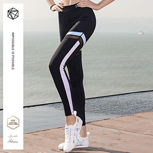 Da Wicking Nero 02 Alta Leggings Womens Strechy Yoga Fitness Vita Sports Corsa Pantaloni wPXPqHfzp6