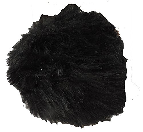 Jumbo Fuzzy BLACK Bunny Tail Costume Accessory - Fuzzy Bunny Costume