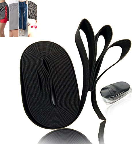 Black Elastic Spool, Used as a garment component, Or other using the mounting bracket. 1 in x 4 yards (Belt Folder Loop)