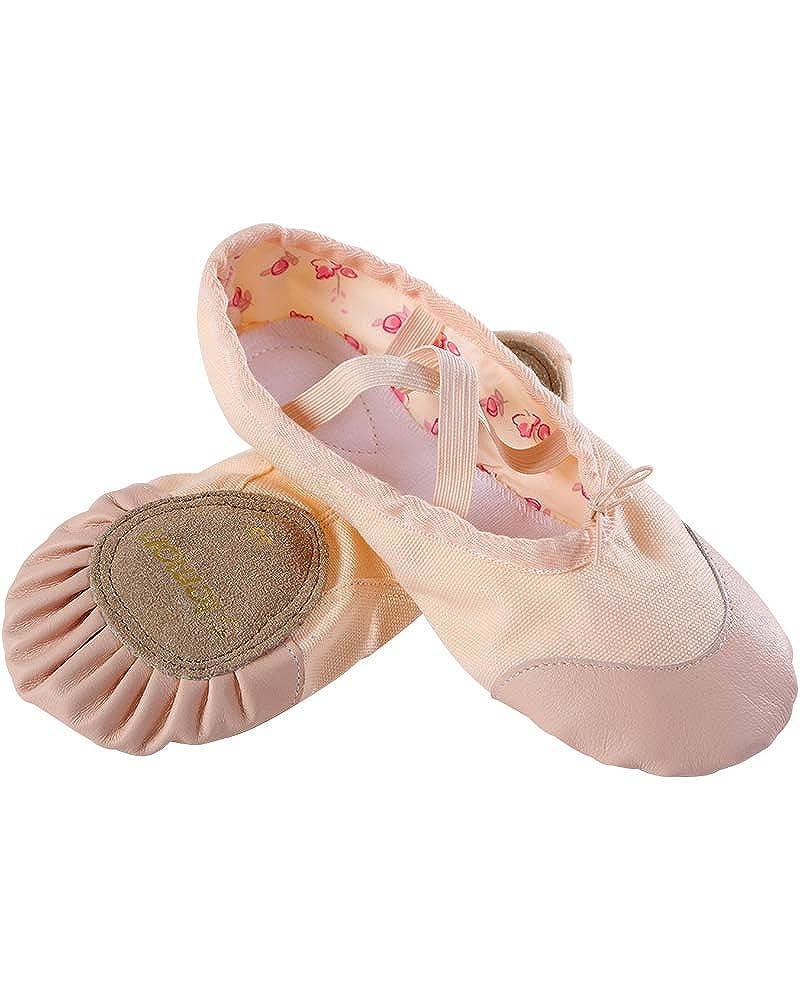 s.lemon Canvas Pink Ballet Dance Shoes Yoga Flat Pumps Split Sole