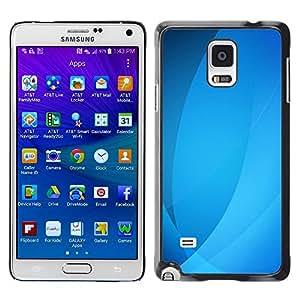 TopCaseStore / la caja del caucho duro de la cubierta de protección de la piel - Ubuntu Waves Lines Pastel - Samsung Galaxy Note 4 SM-N910