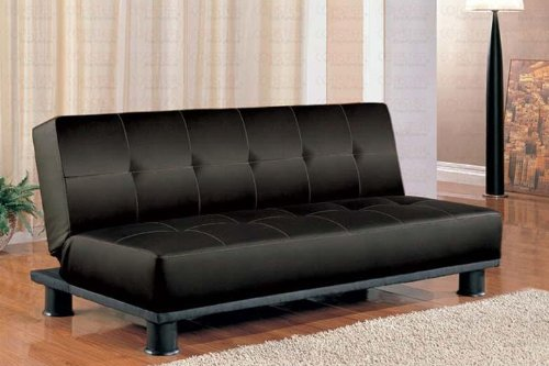 futon-sofa-bed-with-button-tufted-design-in-black-vinyl