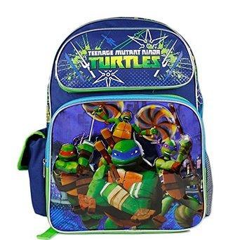 """TMNT Teenage Mutant Ninja Turtles Boys 16"""" Large School Backpack Bag"""