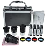 Gosky Astronomical Telescope Accessory Kit – with Telescope Plossl Eyepieces Set, Filter Set, 2X Barlow Lens