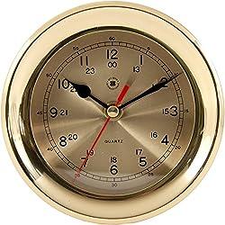 Bey-Berk International Brass Clock - Tarnish Proof