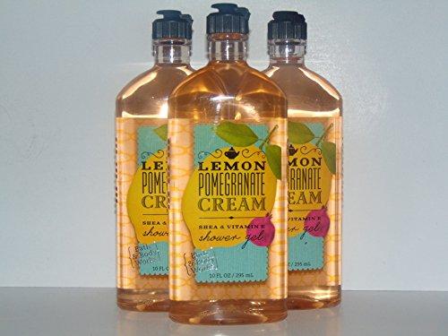Bath & Body Works Lemon Pomegranate Cream Shower Gel 10 Oz - Lot of (Pomegranate Cream Cleanser)
