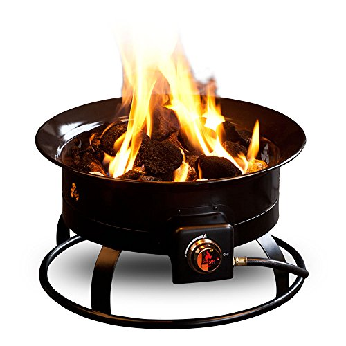 Outland Firebowl 823 Portable Propane Gas Fire Pit, 19-Inch Diameter 58,000 BTU by Outland Living