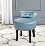 Safavieh Mercer Collecttion Georgia Vanity Stool, Teal and Espresso