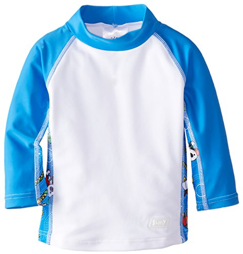 Baby Banz Baby Boys' Long Sleeve Rash Guard, Coolgardie Blue, 6 12 Months