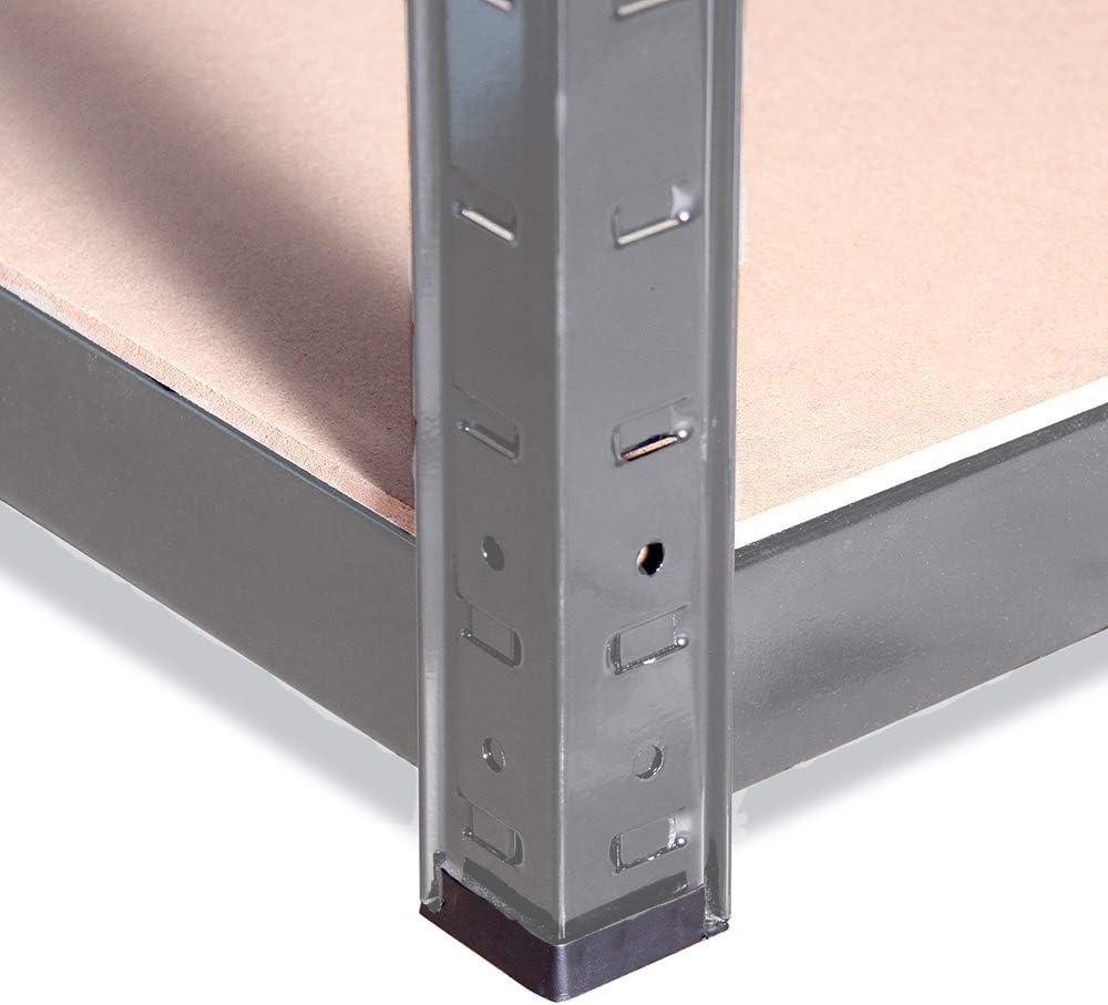 Grey 5 Tier Unit 5 Year Warranty One Bay 175kg Load Weight Per Tier Garage or Business Use | Home G-Rack Garage Shelving Unit: 150cm x 75cm x 30cm Office 0050-1 875kg Per Unit
