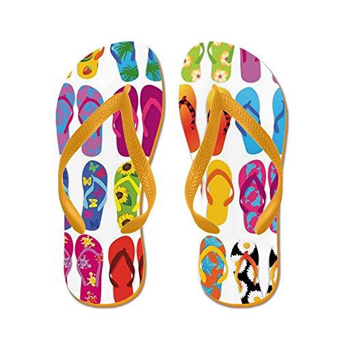 CafePress Summer Fun - Flip Flops, Funny Thong Sandals, Beach Sandals Orange