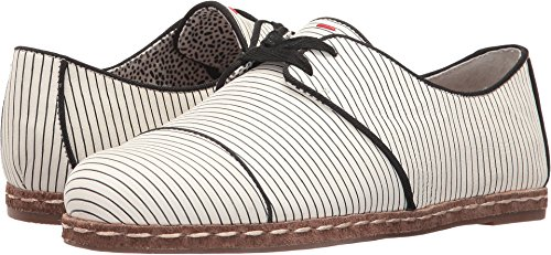 ED Ellen DeGeneres Women's Noram Black/White/Black Brighton Stripe Leather 8.5 M US