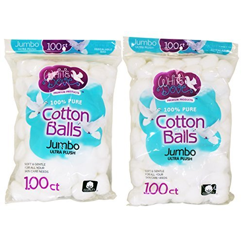 White Dove Cotton Balls,
