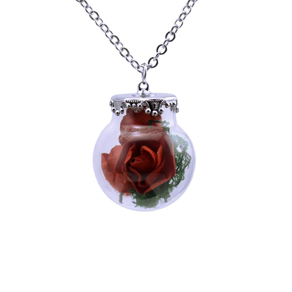 gothic vial pendant necklace vampire jewelry