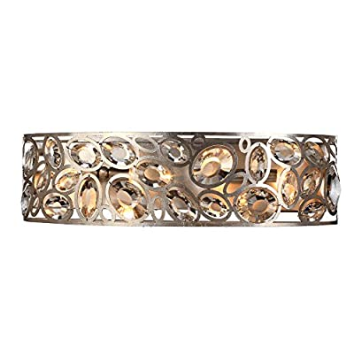 Crystorama 7585-DT Contemp. Crystal Four Light Bathroom-Vanity Light from Sterling collection in Bronze/Darkfinish,