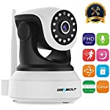 1080P WiFi IP Surveillance Camera - GENBOLT Pan Tilt Wireless Home Security Camera System with 40ft Night Vision,Pet Dog Nanny Baby Monitor Camera Indoor for Home Surveillance, 2-Way Audio Motion Detection Remote Webcam,SONY 1080P Sensor,Loop Recording,Instant Image Activity Alert,128GB Storage(Max Support),3dBi Antenna,355°Super Wide View Angle (Wi-Fi Enhanced Version)