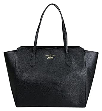 gucci bags tote. amazon.com: gucci women\u0027s swing black leather tote bag 354397: clothing bags ,