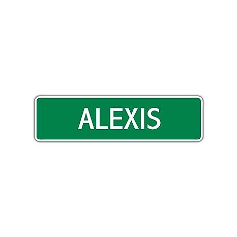 Amazon.com: Cartel de aluminio con el nombre de Alexis para ...