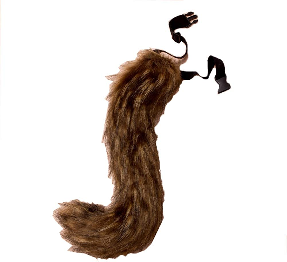 Wolf Fox Tail Ear Clip Halloween Day Golden Masquerade Anime Party Cosplay Prop