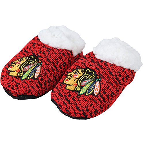 FOCO NHL Infant Knit Baby Bootie Shoe (Chicago Blackhawks, Small)