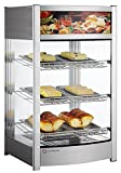 EQ Kitchen Line RTR-97L Commercial Countertop Hot Display Catering Cabinet,  Glass, 309'' Height, 176.4'' Width, 181.1'' Length, Stainless Steel, Silver