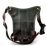 Hebetag Leather Waist Pack Drop Leg Bag for Men