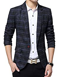Benibos Men's Casual One Button Slim Fit Blazer Suit Jacket