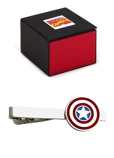 Marvel Avengers Capitán América Corbata de tono plateado 5,4 cm ...