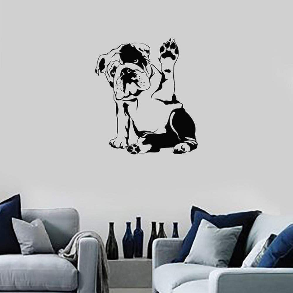 Hapy dog ​​removable personality wall study living room bedroom sofa background 43x49cm