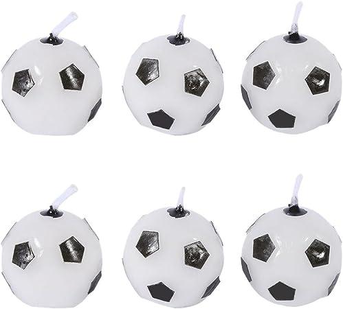 GLOGLOW 6 Unids Lindo Balón de Fútbol de Cumpleaños Fiesta de ...