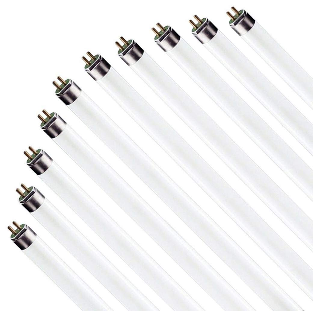 (10 Pack) F17T8/865 17W 24 Inch T8 Fluorescent Tube Light Bulb, 6500K Daylight White, Medium Bi-Pin (G13) Base, 17 Watt T8 Light Bulbs