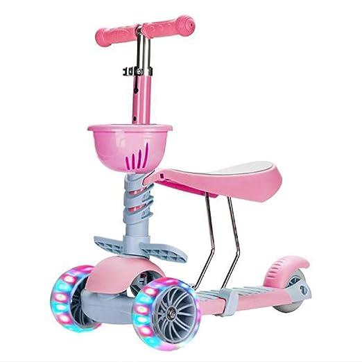 GAOJIN Patinete 3 en 1 Scooter Patinetes para niños con ...
